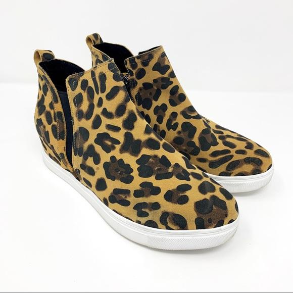 Blondo Boot Georgette Leopard Wedge